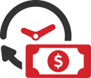 clock and money icon